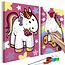 Doe-het-zelf op canvas schilderen - Unicorns