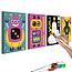 Doe-het-zelf op canvas schilderen - Robots