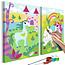 Doe-het-zelf op canvas schilderen - Fairytale Unicorns