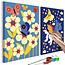 Doe-het-zelf op canvas schilderen - Butterfly & Unicorn