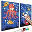 Doe-het-zelf op canvas schilderen - Ocean Animals