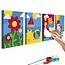 Doe-het-zelf op canvas schilderen - Four Seasons