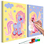 Doe-het-zelf op canvas schilderen - Magical Unicorns