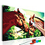 Doe-het-zelf op canvas schilderen - Two Horses