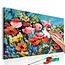 Doe-het-zelf op canvas schilderen - Colourful Meadow Flowers