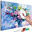 Doe-het-zelf op canvas schilderen - Colorful Bouquet