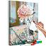 Doe-het-zelf op canvas schilderen - Peony by the Window