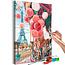 Doe-het-zelf op canvas schilderen - Paris Carousel