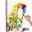Doe-het-zelf op canvas schilderen - Tropical Parrot