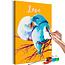 Doe-het-zelf op canvas schilderen - Parrots in Love