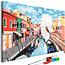 Doe-het-zelf op canvas schilderen - Houses in Burano