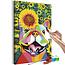 Doe-het-zelf op canvas schilderen - Happy Bulldog