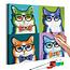 Doe-het-zelf op canvas schilderen - Cats With Glasses