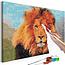 Doe-het-zelf op canvas schilderen - Lion