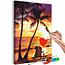 Doe-het-zelf op canvas schilderen - Love and Sunset