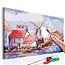 Doe-het-zelf op canvas schilderen - Windmills (Landscape)