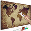 Doe-het-zelf op canvas schilderen - World Map (Brown Colours)