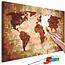 Doe-het-zelf op canvas schilderen - World Map (Earth Colours)