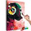 Doe-het-zelf op canvas schilderen - Monkey In Headphones