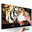 Doe-het-zelf op canvas schilderen - Tiger Roar