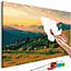 Doe-het-zelf op canvas schilderen - Mountains at Sunrise