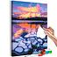 Doe-het-zelf op canvas schilderen - Lake Minnewanka