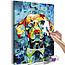 Doe-het-zelf op canvas schilderen - Dog Portrait
