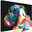 Doe-het-zelf op canvas schilderen - Colourful Boxer