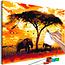 Doe-het-zelf op canvas schilderen - Africa at Sunset