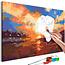 Doe-het-zelf op canvas schilderen - Sunset on the Lake