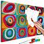 Doe-het-zelf op canvas schilderen - Colourful Rings