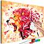Doe-het-zelf op canvas schilderen - Abstract Lion