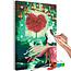 Doe-het-zelf op canvas schilderen - Heart Tree