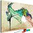 Doe-het-zelf op canvas schilderen - Madame Butterfly