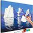 Doe-het-zelf op canvas schilderen - Iceberg