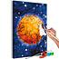 Doe-het-zelf op canvas schilderen - Yellow Moon