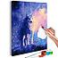 Doe-het-zelf op canvas schilderen - Wolf