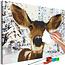 Doe-het-zelf op canvas schilderen - Friendly Deer