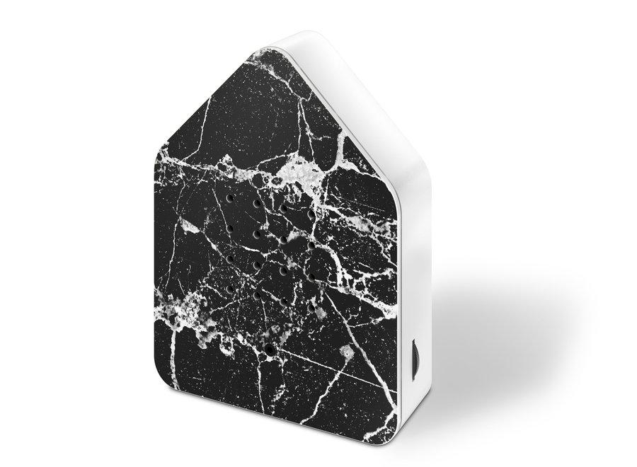 Zwitscherbox Marmer Zwart