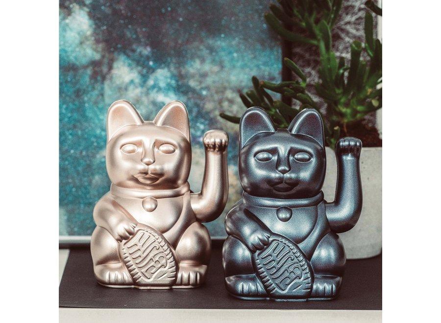 "Lucky Cat Metallic Grey ""Galaxy"""