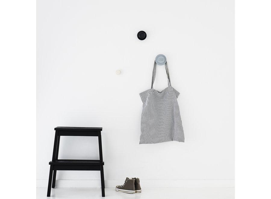 Wandknoppen Set van 3 Grijs Zwart Wit