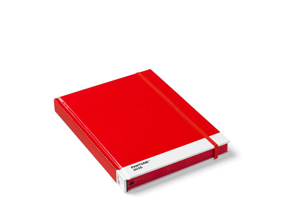 Pantone Notitieboek Groot Rood 2035