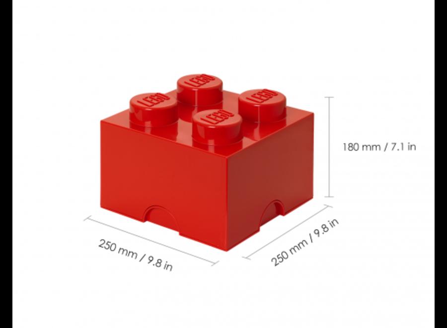 Opbergbox Brick 4 Rood 6L