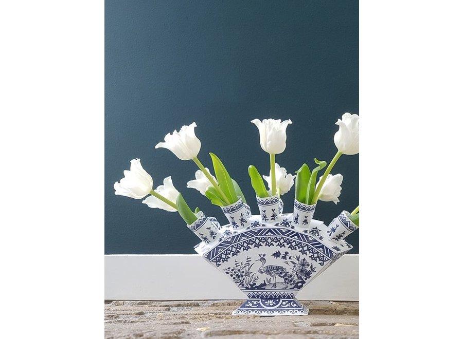 Bloemenwaaier Delftsblauw