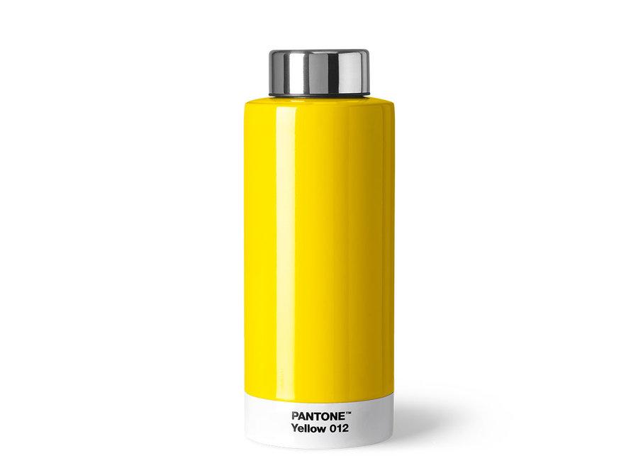 Thermosfles Pantone Yellow 012 Geel
