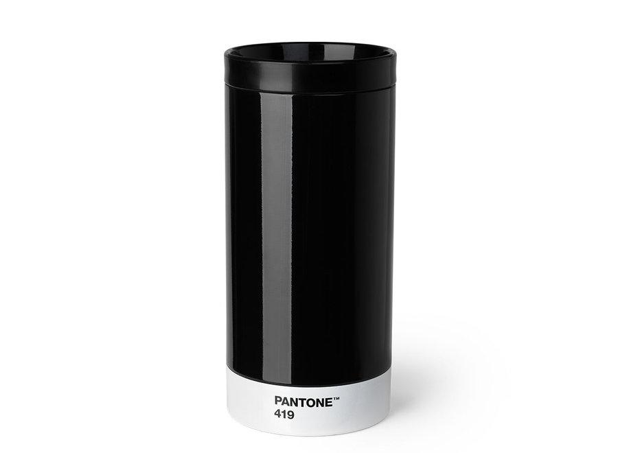 Pantone Drinkbeker To Go 430ml Zwart