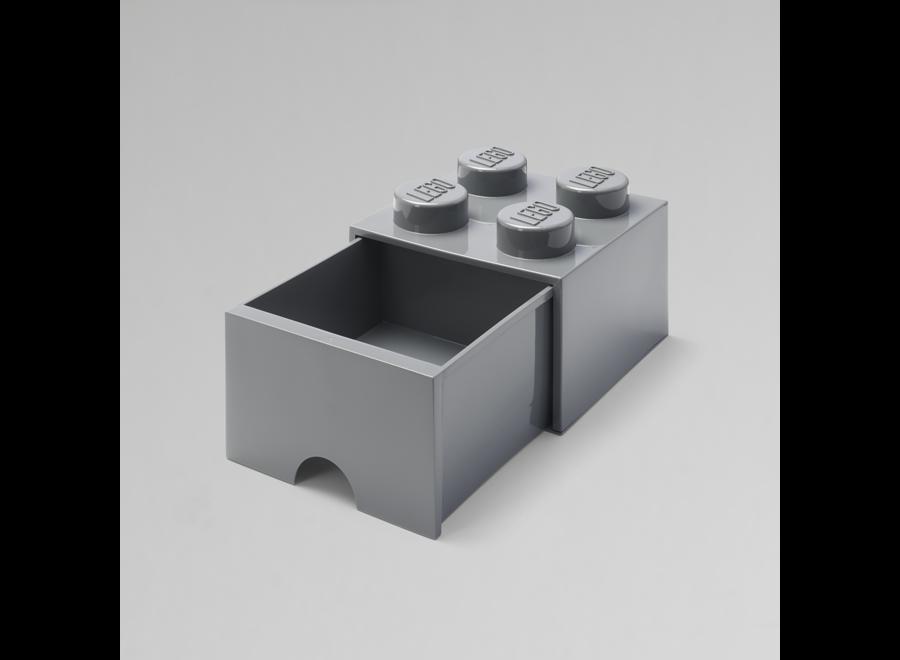 Brick 4 Opbergbox Lade Dark Stone Grey