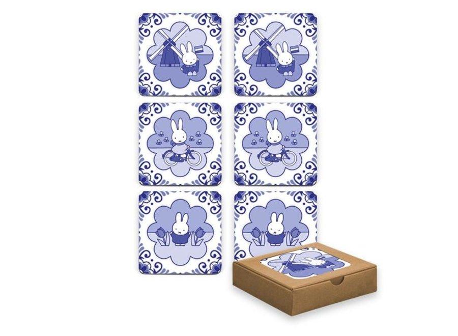 Onderzetter Set Blauw/Wit