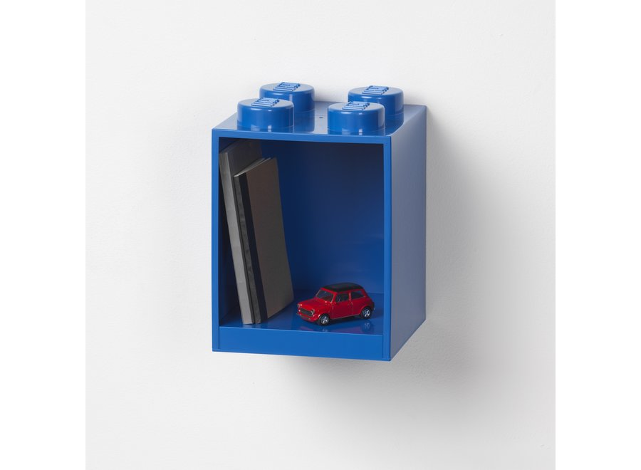 Lego Brick 4 Wandplank Blauw