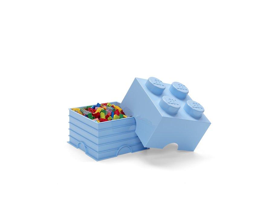 Opbergbox Brick 4 Licht Blauw 6L